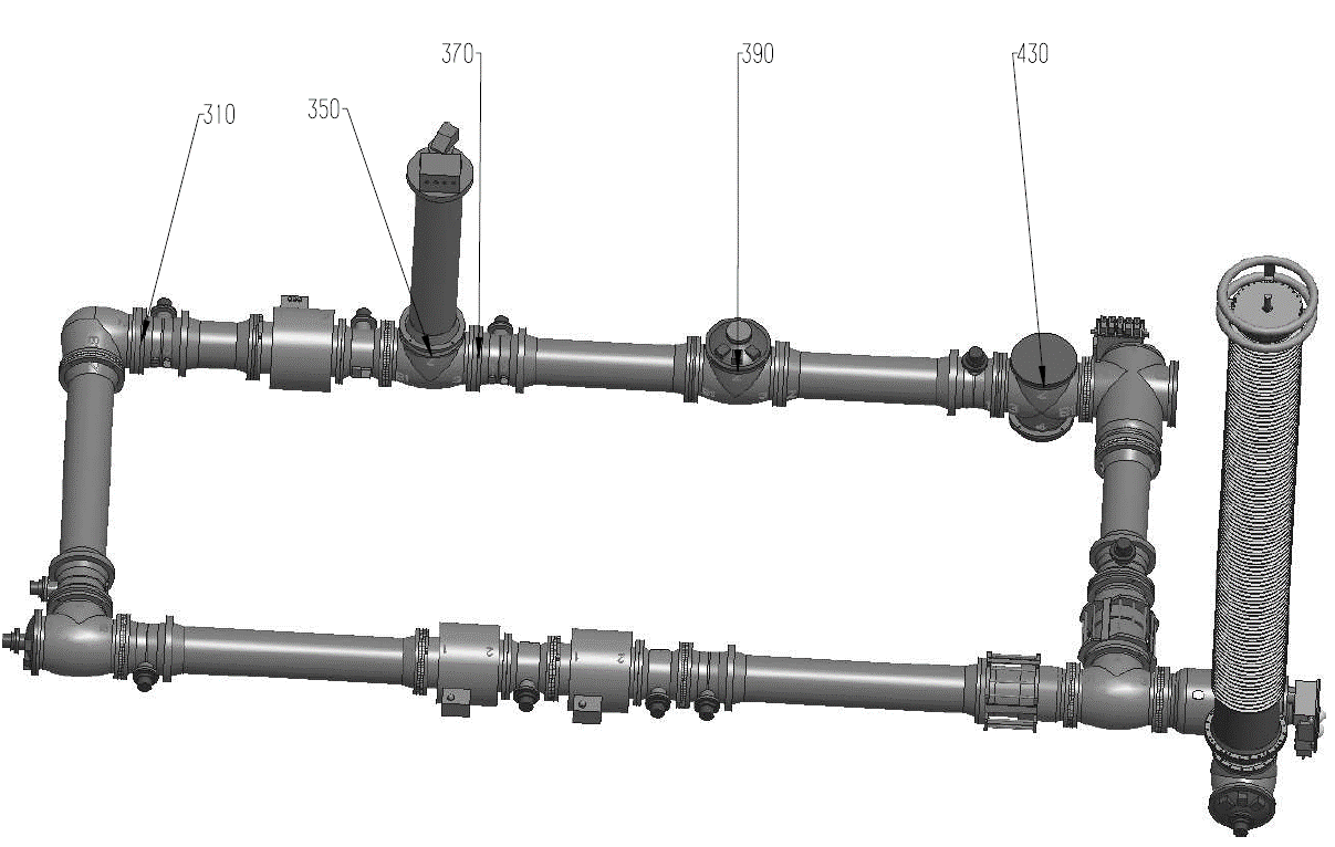 Figure 2 - Drawing of a possible configuration for the demonstrated test pole